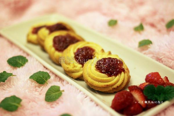 草莓果酱奶酥饼干的做法