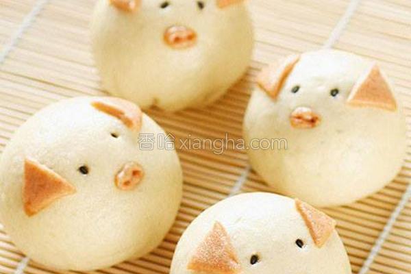豆沙猪宝宝的做法
