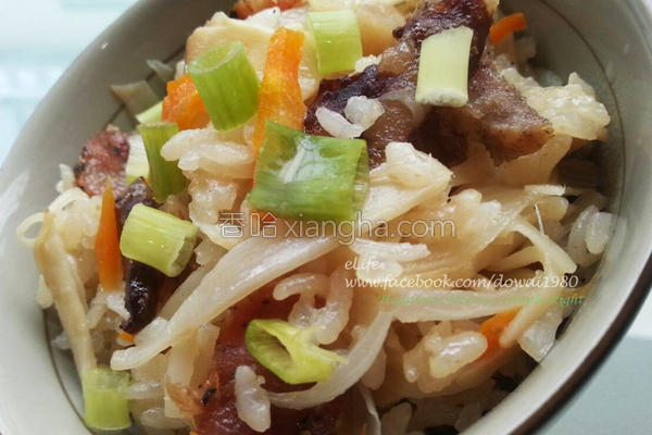 竹笋腊味煲仔饭的做法