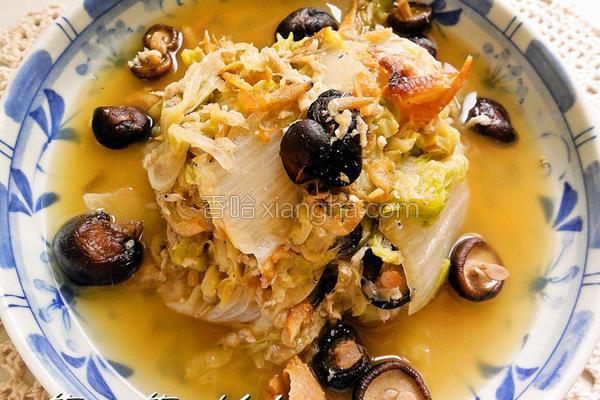 银鱼卤白菜的做法