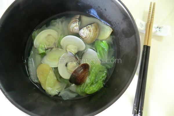 白菜蛤仔汤的做法