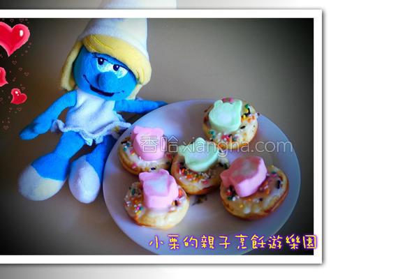 棉花糖甜甜圈的做法