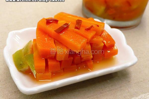 柳橙蜜胡萝卜的做法