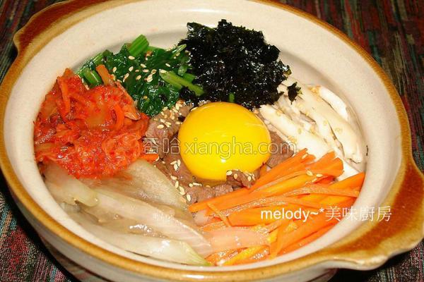月见石锅拌饭的做法