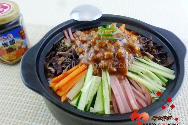 香拌石锅饭的做法