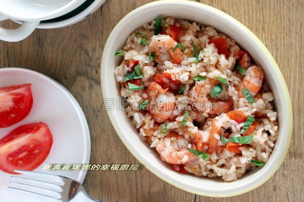 鲜虾萝勒番茄炖饭的做法