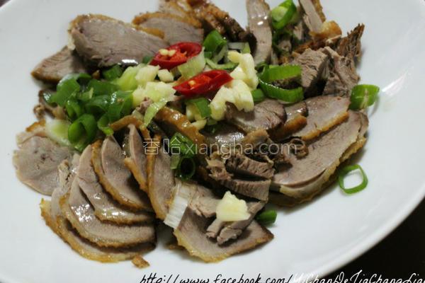 凉拌燻鸭肉的做法