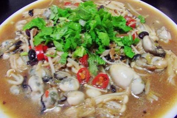 豆鼓金针菇烩鲜蚵的做法