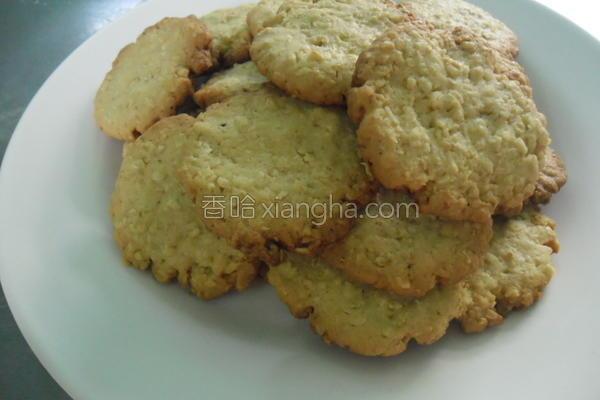 椰香麦片饼干的做法