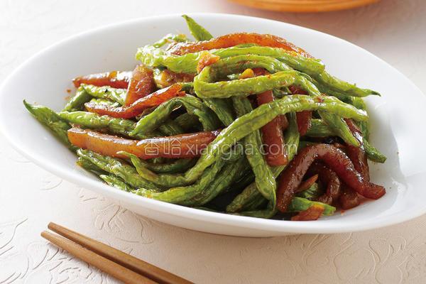 干煸蒜香四季豆的做法
