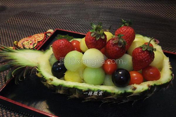 凤梨水果船的做法
