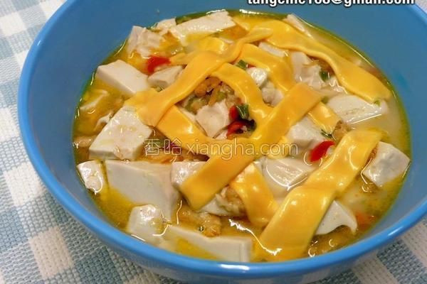 起司虾米烧豆腐的做法