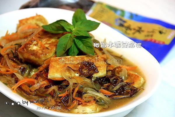 柚香水云豆腐煲的做法