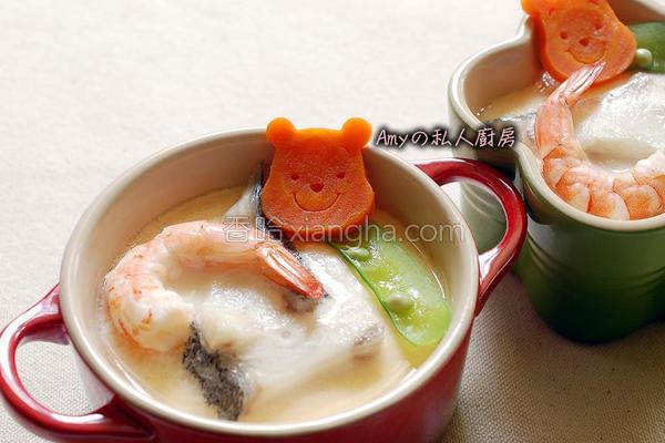 海鲡鱼片茶碗蒸的做法