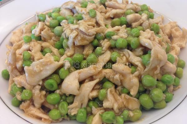 鸡丝豌豆的做法