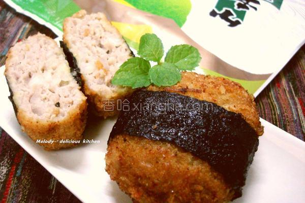 日式海苔炸肉饼的做法