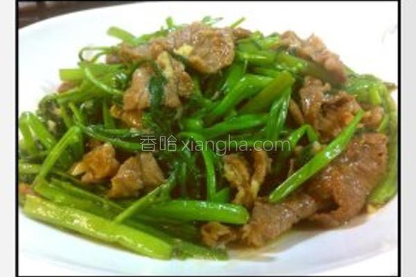 沙荼炒牛肉空心菜的做法
