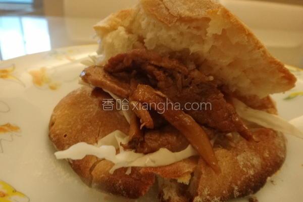 姜烧猪肉堡的做法