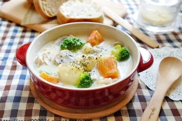奶油炖菜的做法