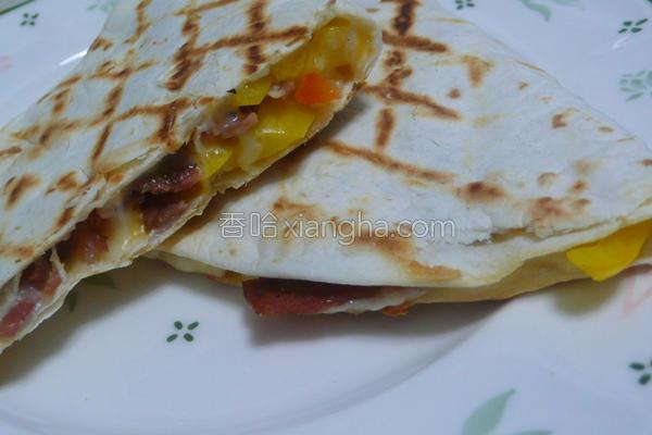 彩椒培根墨西哥饼的做法