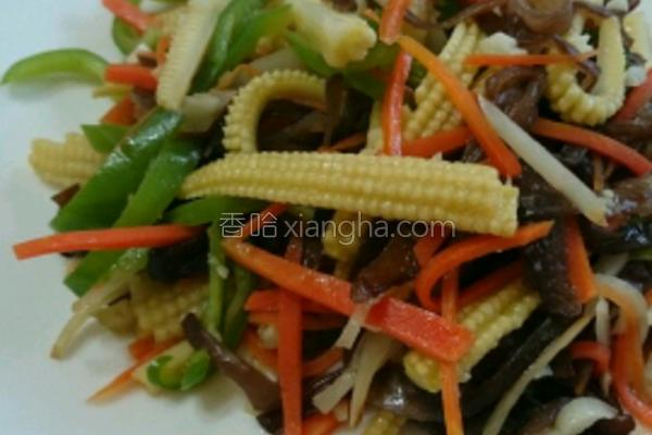玉米笋炒木耳的做法