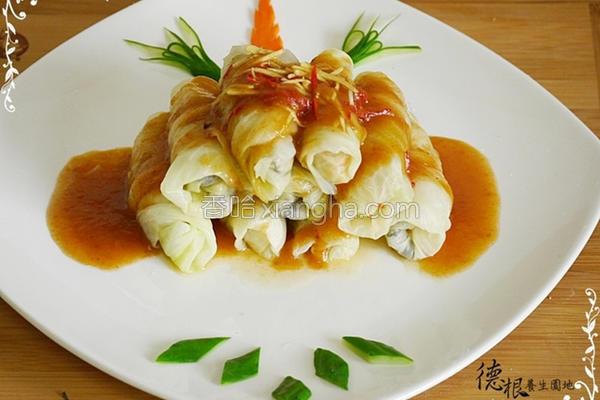 烧茄汁高丽菜卷的做法