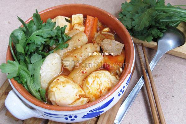 韩式年糕泡菜锅的做法
