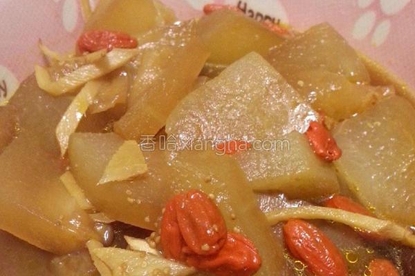 清蒸香菇枸杞冬瓜的做法