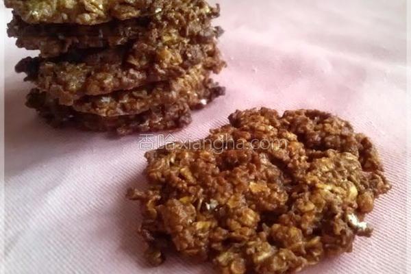黑糖蜂蜜燕麦饼干的做法