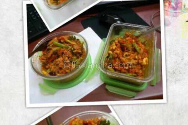 简易韩式素拌饭的做法