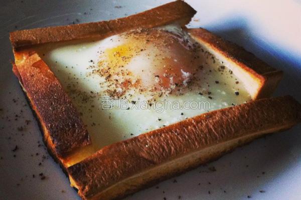 吐司烤蛋的做法