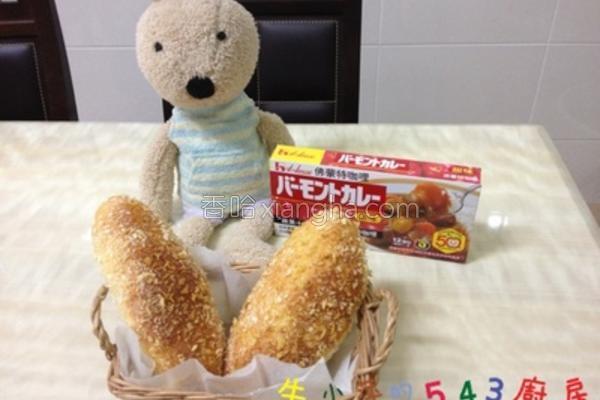 免炸咖哩面包的做法