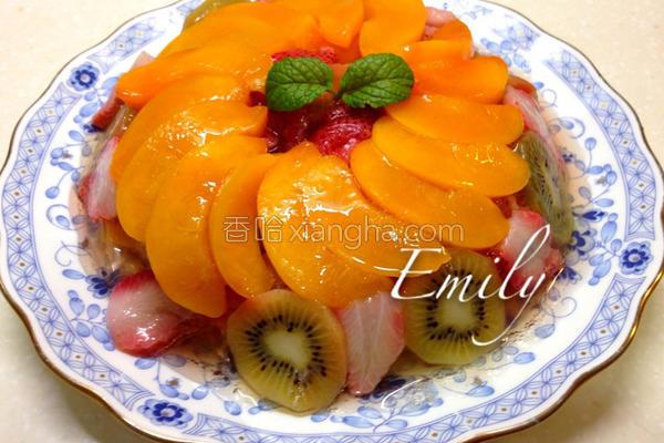 三色新鲜水果冻的做法