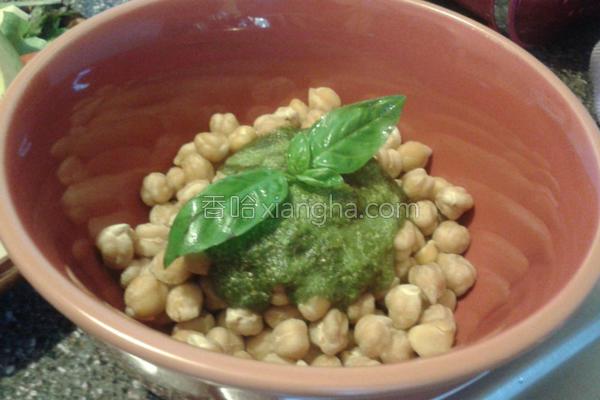 杏仁罗勒鹰嘴豆的做法