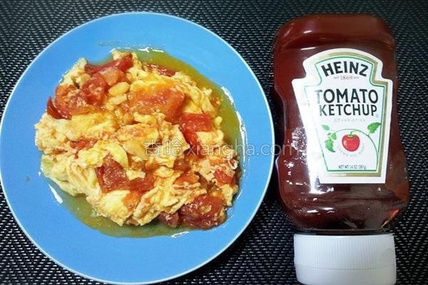 番茄炒滑熘熘嫰蛋的做法