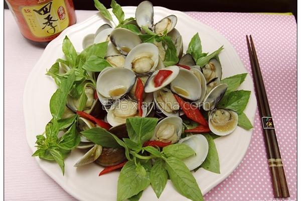 九层塔香炒蛤蛎的做法