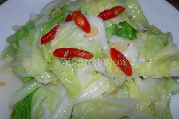虾皮蒜香炒高丽菜的做法