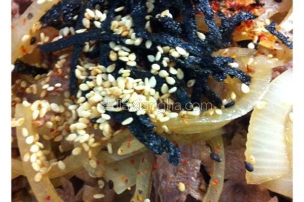 牛肉寿喜烧盖饭的做法