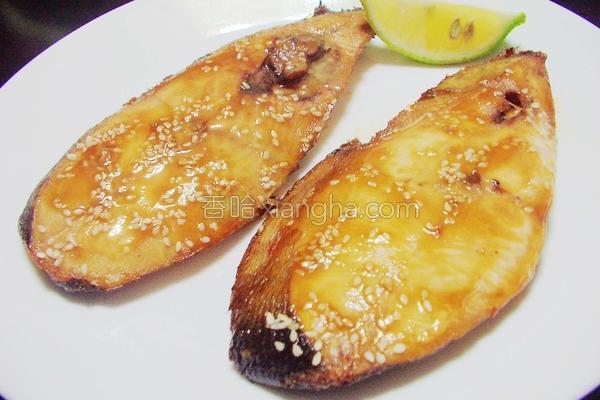 薄烤蜜汁鱼片的做法