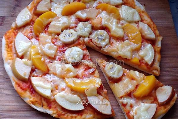 手工水果脆皮披萨的做法