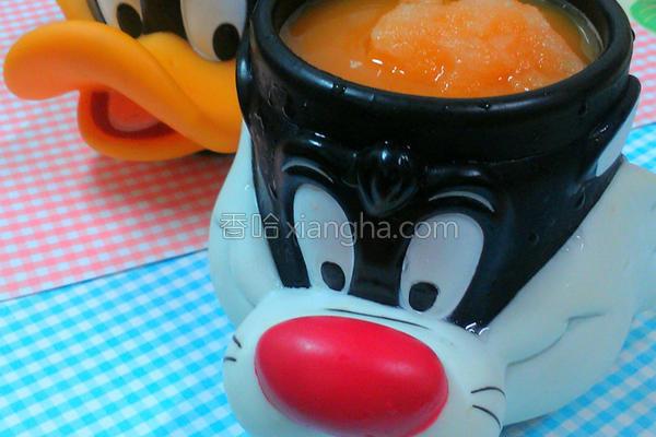红萝卜冰沙的做法