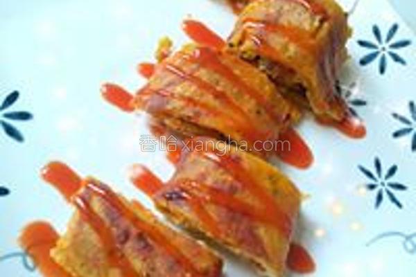 南瓜卷饼的做法