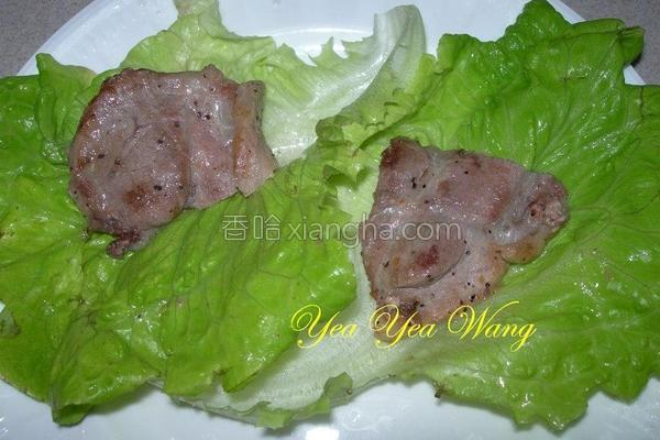 生菜梅花肉片的做法