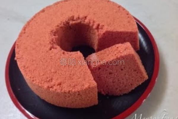 红曲威风蛋糕的做法