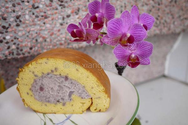 芋香蛋糕卷的做法