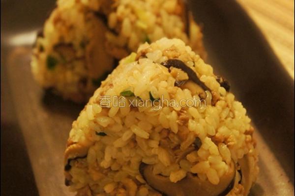 香葱肉燥菇御饭团的做法