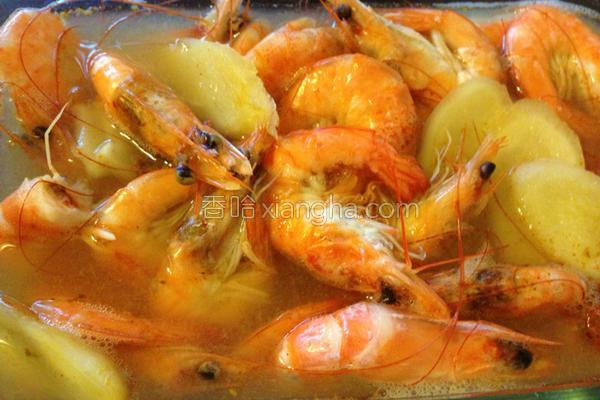 白酒炖虾的做法