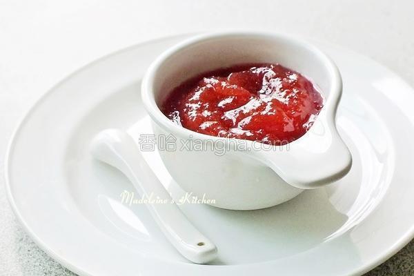红肉李果酱的做法