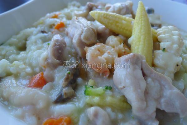 海陆起司炖饭的做法