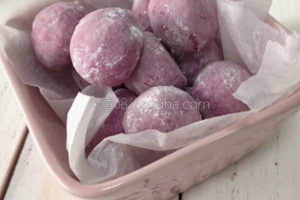 紫薯雪球曲奇的做法